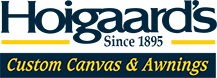 Hoigaard's custom canvas and awnings logo